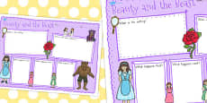 Australia - Beauty and the Beast Book Review Writing Frame