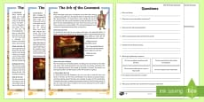 * NEW * The Ark of the Covenant Differentiated Reading Comprehension Activity