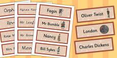 Oliver Twist Word Cards