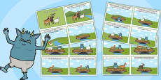 The Three Billy Goats Gruff Story Sequencing 4 Per A4 Polish