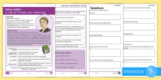 * NEW * KS2 Helen Keller Differentiated Comprehension Go Respond Activity Sheets