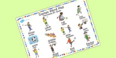 PE Games Word Mat German Translation