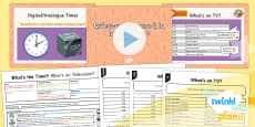 PlanIt - Year 4 French - What's the Time? Lesson 3: What's on Television? Lesson Pack