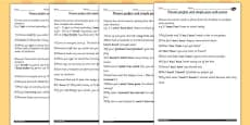 Using the Present Perfect Form of Verbs in Contrast to Past Tense Differentiated Activity Sheets