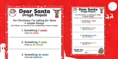 Letter to Santa 'Four Simple Things' Writing Template English/Romanian
