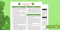 St Patrick's Day Fact Sheet for Adults