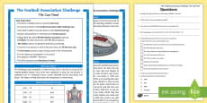 * NEW * KS2 FA Cup Differentiated Reading Comprehension Activity -