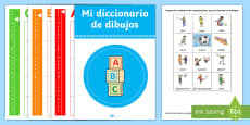 PE Games Picture Dictionary and Word Card  Display Pack Spanish