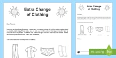 * NEW * Extra Change of Clothing Editable Letter