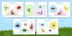 Minibeast Themed Cutting Skills Activity Sheets