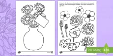 Father's Day Flower Bouquet Colouring Activity