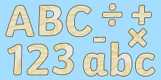 Light Themed Display Letters and Numbers Pack