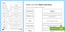 Health and Diet Match and Draw