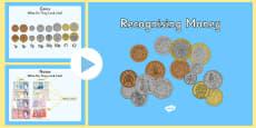 Maths Intervention Recognising Money PowerPoint