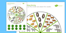Peg Number Matching Activity Safari Themed