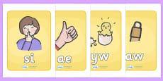 Welsh Letter Blending Cards