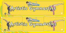The Olympics Gymnastics Artistic Display Banner