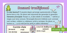Genuri literare,  Basmul - Planșă Romanian Romanian / Română