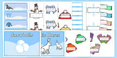 Winter Classroom Signs and Labels Resource Pack