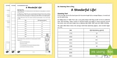 A Wonderful Life Activity Sheet