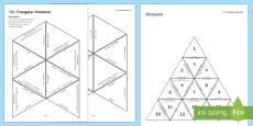 * NEW * Reactions of Acids Tarsia Triangular Dominoes