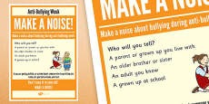 Anti-Bullying Week: Make A Noise - Who Will You Tell? Poster