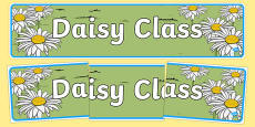Daisy Themed Classroom Display Banner