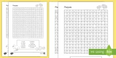 Easter Word Search French