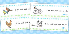 Ugly Duckling Combined Number and Alphabet Strips