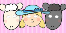 Little Bo Peep Role Play Masks