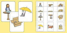 In, On and Under Preposition Cards