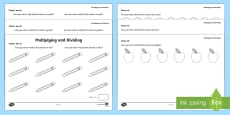 Colour Me In Multiplication and Division Activity Sheets