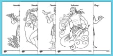 Māori Gods Colouring Sheets