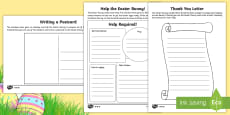 * NEW * Saving Easter Writing Activity Pack