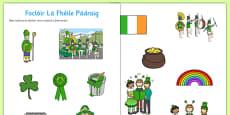 Irish Gaeilge Saint Patrick's Day Dictionary Work Activity Sheet