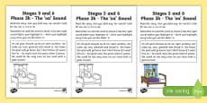 Linguistic Phonics Stage 5 and 6 Phase 3b, 'oa' sound Activity Sheet
