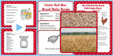 Little Red Hen Bread Rolls EYFS Resource Pack