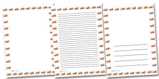 Tiger Portrait Page Borders