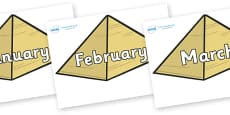 Months of the Year on Pyramids