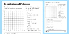 Australia - Coordinates and Perimeter Activity Sheet