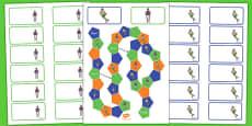 Basketball Themed Editable Board Game