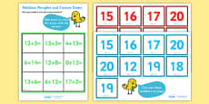 Addition Noughts and Crosses Activity (to 20)