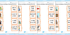 Phase 2 Pictures and Captions Matching Worksheets