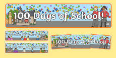 100 Days of School Display Banner