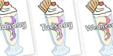 Days of the Week on Ice Cream Sundaes
