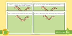 Tapiz de plastilina: Más largo o más corto - Gusanos