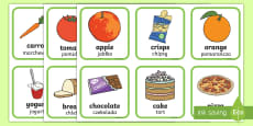 * NEW * Healthy and Unhealthy Sorting Activity English/Polish