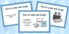 Salt Dough Recipe A4 Display Posters