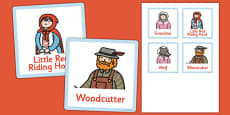 Little Red Riding Hood Grandma's House Role Play Badges