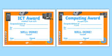 ICT Award Certificates Arabic Translation